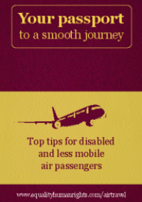 This is the cover of Your passport to a smooth journey: top tips for disabled and less mobile passengers
