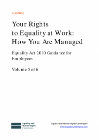 This is the cover of Your rights to equality at work: how you are managed
