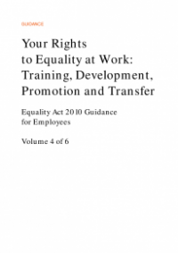 This is the cover of Your rights to equality at work: training, development, promotion and transfer