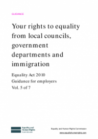 This is the cover of Your rights to equality from local councils, government departments and immigration