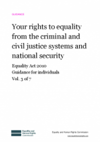 This is the cover of Your rights to equality from the criminal and civil justice systems and national security